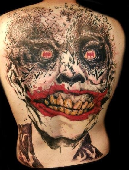 Batman Joker face Tattoo