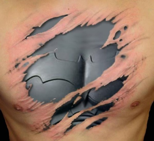 Realistic Batman logo TAttoo